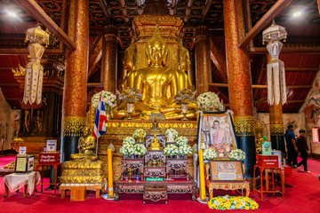 Wat Phumin or Phu Min Temple, The famous ancient temple in Nan province, Northern part of Thailand