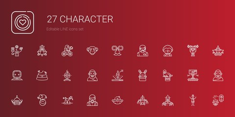 character icons set