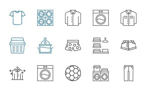 shirt icons set