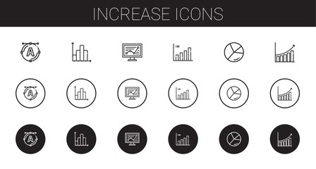 increase icons set