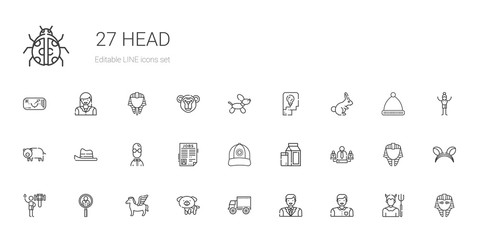 head icons set