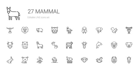 mammal icons set