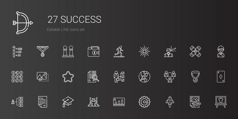 success icons set