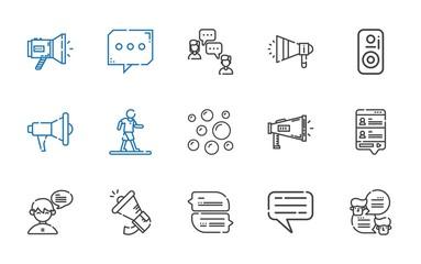 communicate icons set