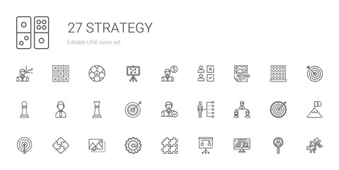 strategy icons set