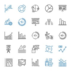 diagram icons set