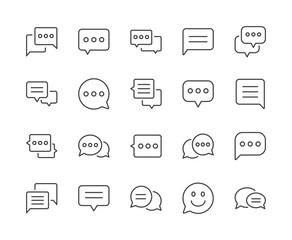 Simple Set of Speech Bubble Line Icon. Editable Stroke