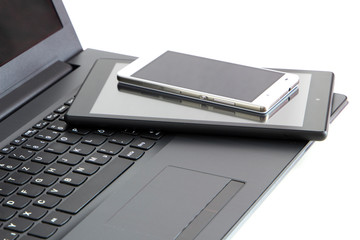 electronic devices, with copy-space