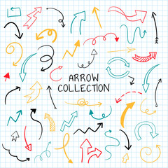 Hand drawn arrow illustration collection