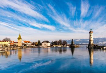 Panorama Hafen Lindau Bodensee