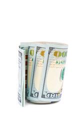 Money dollars usa on a white background