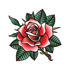 flower tattoo vector image.