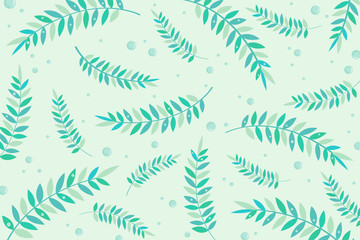 pattern greenleaves