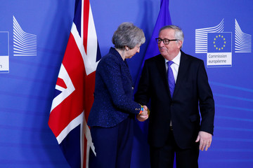 EC President Juncker meets with British PM May in Brussels