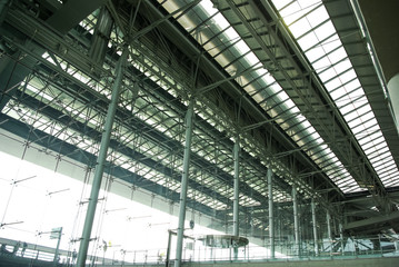 Roof airport inside view