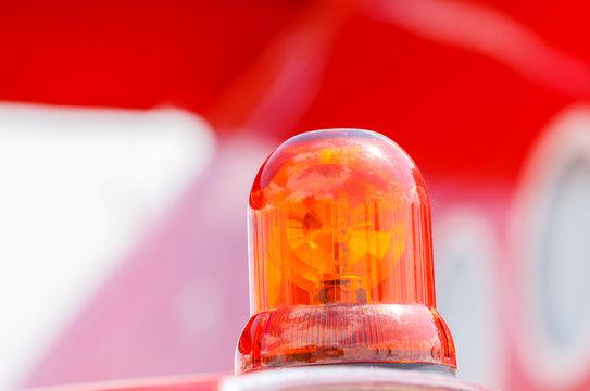 Detail of Flashing Red Siren Light