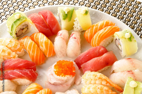 Piatto Di Sushi Cucina Giapponese Stock Photo And Royalty Free