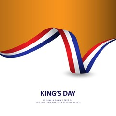 King's Day Vector Template Design Illustration