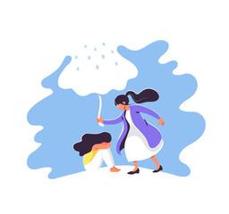 Mental health concept vector illustration