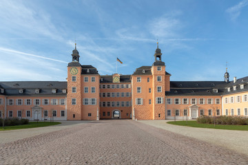Palace entrance at  Schwetzingen Palace gardens. It is the largest palace garden in Germany