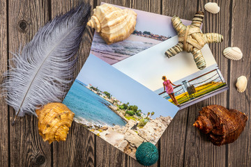 Vacation, seashells, photos, summer, sea, camera, wooden, star, ocean, travel, resort, spa, recreation, entertainment, memories, dreams, photo tour