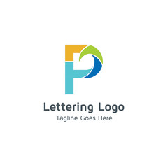 Lettering P Vector