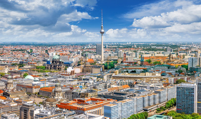 panoramic view at the city center of berlin