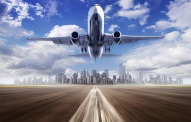 take off of an modern airplane