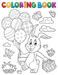 Canvas Prints For Kids Coloring book Easter rabbit topic 2