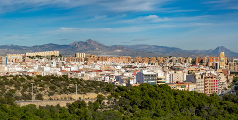 Summer view of a spanish city