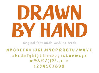 Fancy hand-drawn font isolated vector letter set