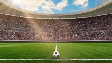 fussballstadion in der sonne