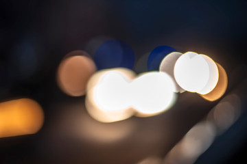 Close up of bokeh background of Christmas lights or new year celebration used as background or texture for designing and for photo manipulation.