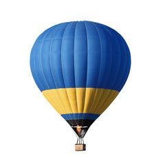 Poster Ballon Bright colorful hot air balloon on white background