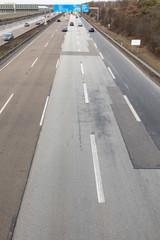 aerial of german highway