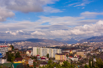 Panorama of the city of Sochi. Russia