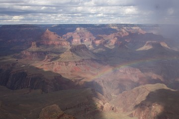 Rainbow Above the Grand Canyon