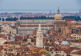 Italy beauty, San Marco Square in the rain, Venice