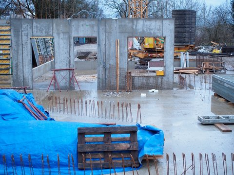 Betonieren - Baustelle im Rohbau