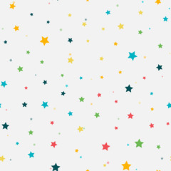 Abstract seamless pattern. colorful stars.