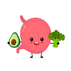 Cute strong healthy happy stomach