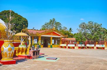 The grounds of Kyaik Pun Pagoda, Bago, Myanmar