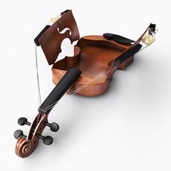 Open violin