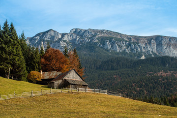 Transylvania landscape in autumn time, Romania the Carpathian garden