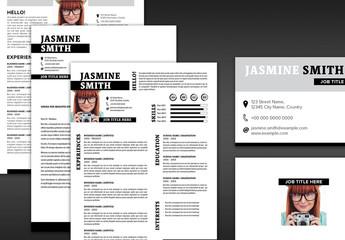 Resume, Portfolio and Business Card Layout Set