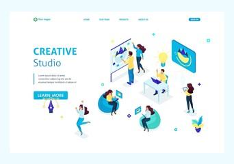 Isometric Landing Page Creative Studio