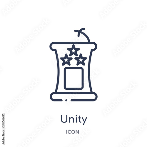 unity icon from political outline collection  Thin line unity icon