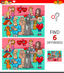 find differences game with characters in love