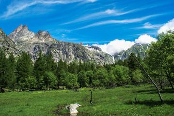 Obraz Tour de Mont Blanc. Alpy, Szwajcaria, Europa - fototapety do salonu