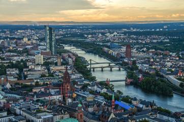 Wall Mural - Modern skyline of Frankfurt
